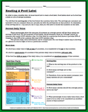 Reading a Food Label Worksheet