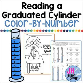 Reading a Graduated Cylinder: Color-By-Number