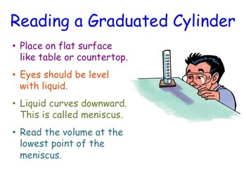 Reading a Graduated Cylinder Lesson Presentation