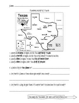 reading a map of texas by reading with mrs rocha tpt. Black Bedroom Furniture Sets. Home Design Ideas