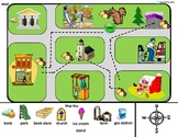 Reading a Map/Map Key and Map Flashcards for Autism