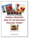 Reading a McDonald's Menu for the Nonverbal/Nonreader Student