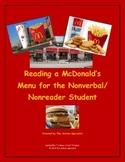 Reading a McDonald's Menu for the Nonverbal/Nonreader Student (Red Version)