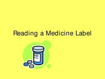 Reading a Medicine Label