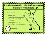 Reading a Metric Ruler & Conversions Handouts