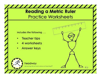 Reading a Metric Ruler Practice Worksheets