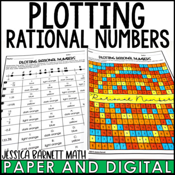 Reading a Number Line Coloring Activity