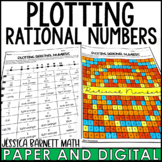 Plotting Rational Numbers Coloring Activity