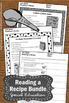Reading a Recipe BUNDLE Special Education and Autism Resources