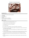 Reading a Recipe: Cookies & Cream Brownies
