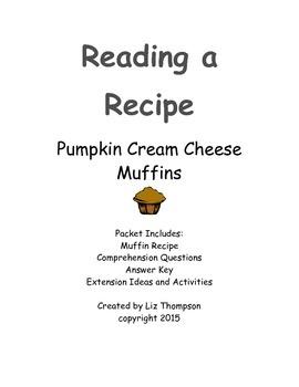 Reading a Recipe - Pumpkin Muffins