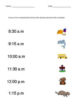 Reading a Schedule Activity
