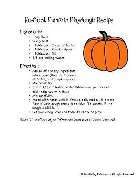 Reading a Set of Directions - Pumpkin Playdough