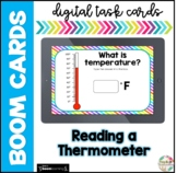 Reading a Thermometer| Boom Cards |Distance Learning