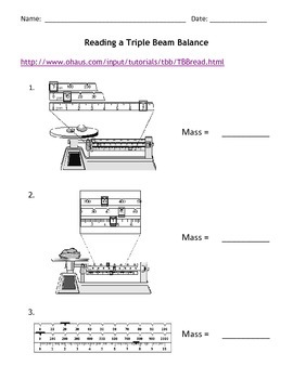 Reading a Triple Beam Balance by Jodi's Jewels | TpT