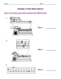 Reading a Triple Beam Balance