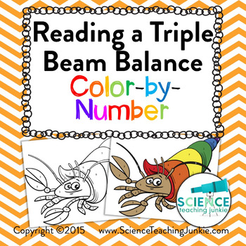 Reading a Triple Beam Balance Color-by-Number