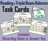 Reading a Triple Beam Balance Task Cards (Measuring Mass: Metric System)