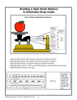 Reading a Triple Beam Balance to Determine Mass Assessment
