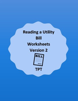 Reading a Utility Bill Worksheets Version 2