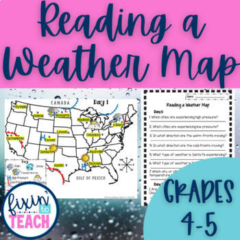 Reading A Weather Map Teaching Resources Teachers Pay Teachers