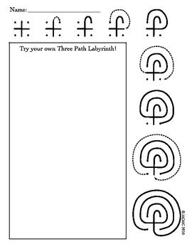 Reading about Minotaurs? Try Teaching How to Draw a Labyrinth (worksheet)