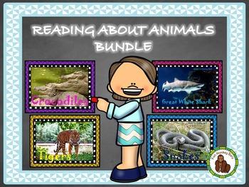 Reading about animals bundle