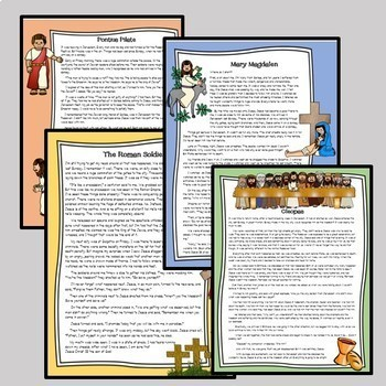 Reading comprehensions: CHARACTERS OF THE CROSS