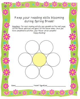 Reading activity for Spring Break