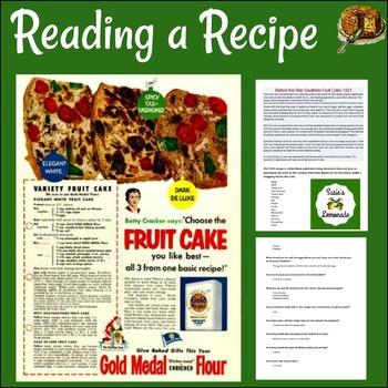 Reading an Informational Passage/ Recipe