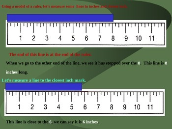 Reading an inch ruler