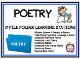 Reading and Analyzing Poetry Classroom File Folder Stations