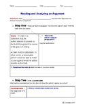 Reading and Analyzing an Argument