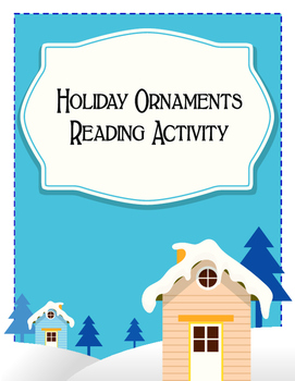 Reading and Coloring Christmas Ornaments Holiday Activity
