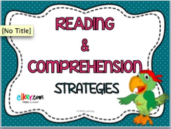 Reading and Comprehension Strategies Cards - Posters