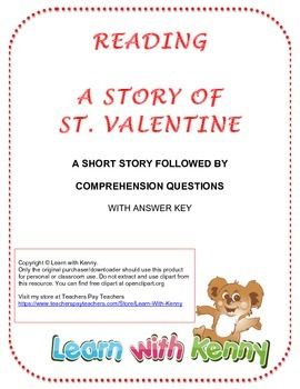 Valentine's Day Reading and Comprehension