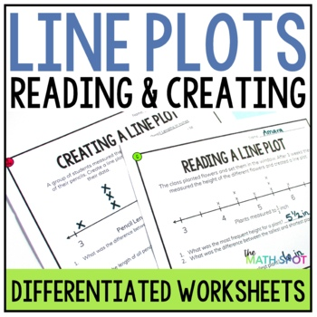 Line Plot Worksheets With Fractions By The Math Spot Tpt