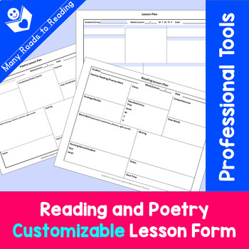 Reading and Customizable Tutoring Lesson Form