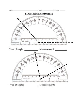 Reading and Drawing Angles with Protractors (TEKS 4.7C 4.7D) STAAR prep