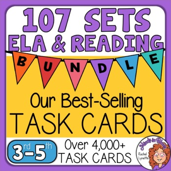 Reading and ELA Task Card Massive Bundle - 104 Task Card Sets!