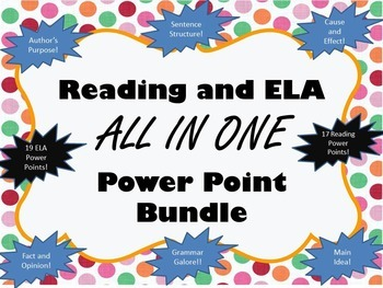 Reading and ELA PowerPoint Set - Growing Bundle
