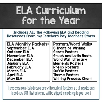 Reading and ELA for the Year - EVERY ELA Resource in My Store!