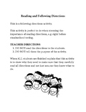 Reading and Following Directions
