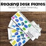 Reading and Growth Mindset Desk Plates for Upper Elementary