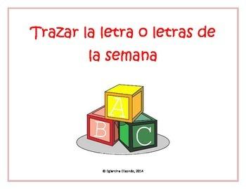 Reading and Handwriting Activity (Spanish)