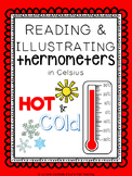 Reading and Illustrating Thermometers in Celsius - Hot and