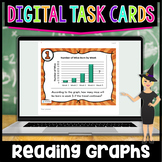 Reading and Interpreting Graphs Digital Task Cards | Dista