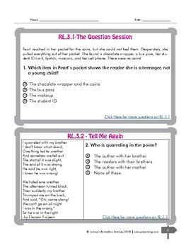 Reading Comprehension Freebie Grade 3