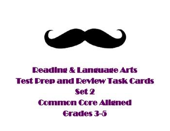 Reading and Language Test Prep Task Cards Set 2