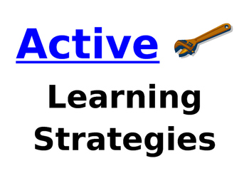 Reading and Learning Strategies Graphic Organizer